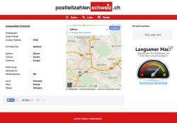 Postleitzahlen Schweiz